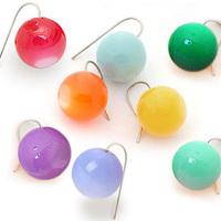 Accessories orange candy spherule star accessories earrings stud earring 016