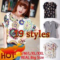 2014 Women Blouse Shirt 19 Styles XXL Plus Size Blusas Femininas Spring Summer Fashion Clothing Batwing Shirt Body Women Tops