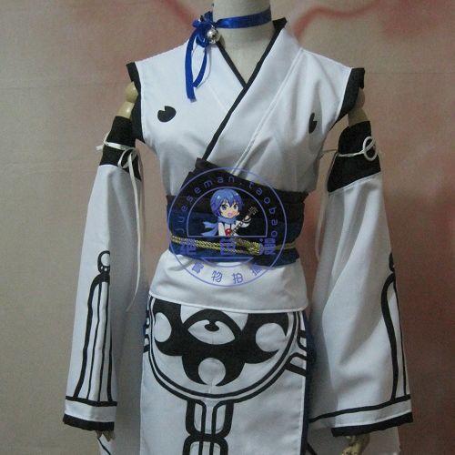 Cosplay costume Cosplay clothes customize whitecat kimono Custom made any size Hallowmas Gifr(China (Mainland))