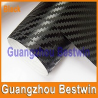 Free shipping Hot sell best quality 1.52*0.6m high polymeric PVC carbon fiber car wrap with Air bubble free BW-2004