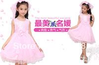 Children's clothing 2014 summer child one-piece dress female child princess dress baby spring and summer flower girl formal