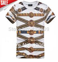 New Men's Vintage T Shirt Belt Print Cotton Short Sleeve Hip Hop T Shirt Summer Slim Casual Street Tee ,Versa Ce Brand Tops