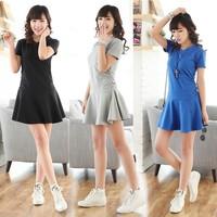 High Quality! 2014 New women  Short Sleeve sport  dress