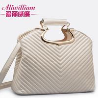 women handbag new 2014 pu V design fashion shoulder bags white bag
