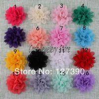 Thin Chiffon Flowers Fabric Chiffon Cloth Flower For Headbands Hairpin Flowers Corsage Flower Hair Accessories DIY Girl Headwear
