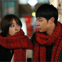 2013 korean knitted yarn autumn and winter lovers ultra long scarf thickening male scarf
