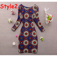New 2014 Winter dress Women Version Of Bohemian National Wind Tide Bottoming Slim Sleeve Knit Dresses