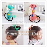 Korean Fashion kids Hair Accessories Cute dear Elastic Hair Bands Animal Cartoon Hair Ropes For girls/kids Free Shipping PEB0134