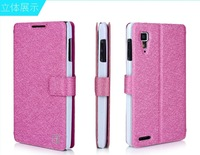 Free Shipping Flip Case 100% Original Leather Case Cover For Lenovo P780  with stand function ,high quality