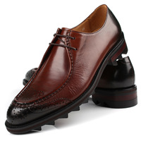 New Men's Casual shoes Leather Lace Up Wedding Office Work Dress Shoes Sneakers Eur size 37 to 44 Retail/wholesale Free shipping