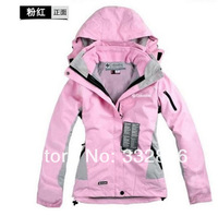 2014 Fashion woman outdoor sports Jacket Womens waterproof breathable two-in-one coat wholesale/retail breathable waterproof