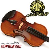 FREE SHIPING DHL Christina v01 antique handmade quality child adult violin