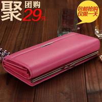 2014 female wallet cowhide long wallet design genuine leather fashion women's day clutch wallet