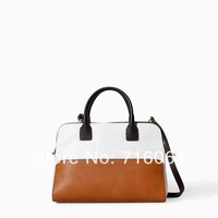 2014 new arrival top Quality pu leather fashion women handbag famous Designer brand ZZ large tote patchwork Shoulder Bag 4027