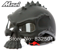 Cool Helmet Design MASEI Skull Motorcycle helmet Bicycle half helmets Best Quality M L XL XXL Black Style 489 DOT Standard