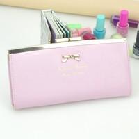 Ol brief women's wallet fresh sweet little gentlewomen long elegant design hardware plate buckle wallet female