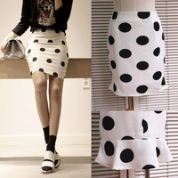 Women's 2014 spring summer women's bust skirt big polka dot ol elegant slim hip skirt bust skirt female