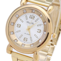 Newcomers High-End Women Watch, 100% High Quality Rhinestone Watches, Stainless Steel Quartz Watch Free shipping