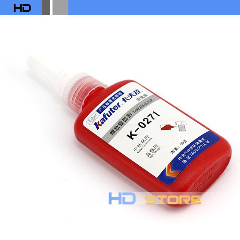 10pcs/lot kafuter K-0271 screw glue Anaerobic adhesive Quick drying thread locking adhesive Medium viscosity High strength 50ml(China (Mainland))