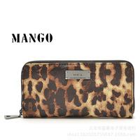 New arrival 2014 wallet clutch leopard print mango wallet  block women's long design wallet
