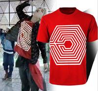 kpop exo k pop 2014 new m album mv KRIS TAO KAI LUHAN overdose summer casual cotton white T shirt shirts tees for men women