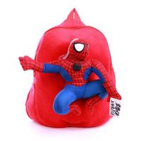 2014 New Arrival Quality Cute 3D Spider-Man Plush Backpack Schoolbag Child PRE School Kid Cartoon Bag Free Shipping SHD-1049