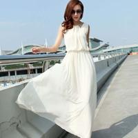 Chiffon one-piece dress long design full dress slim full dress bohemia one-piece dress beach dress