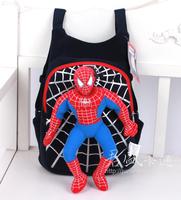 2014  Cute 3D Spider-Man Plush Backpack Cartoon Schoolbag Child PRE School Kid Cartoon Bag SHD-1048