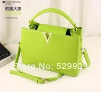2014 messenger bags famous brand spring women leather handbags bolsas de marca  femininas tote bag
