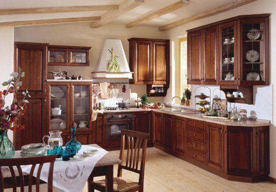 American Fashion Cherry Wood Kitchen