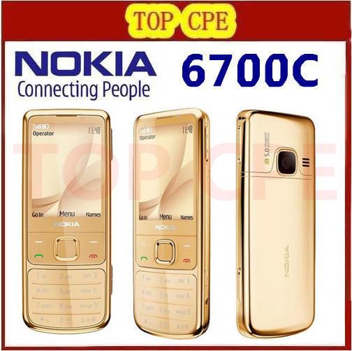 Full package Free shipping Original Original 6700C Nokia 6700 Cell Phone Unlocked 6700 Classic Mobile Phone Russian Keyboard(China (Mainland))