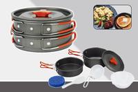 free shipping aluminum camping cookware set camping pot