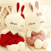 Free shiiping 45cm 1pc ballet skirt love rabbit doll plush toy girl birthday gift
