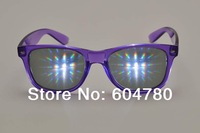 HONY plastic diffraction glasses Emerald diffraction film