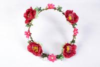 Free Shipping Bohemia Rustic Artificial Flower Garishness ,Halo Bride Bridesmaid Peoperties Hair Accessory