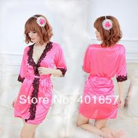 SWA4018 sexy kimono robe/sleepwear,  5 kinds color random sent  for sexy underwear women
