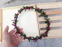 Free Shipping Mini Fresh Handmade Fruit Vine Headband  Girls Wedding Party Hair Accessories,Bride Bridesmaid Flower Garland