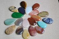 Wholesale 2014 New Semi-precious Stone Women Mens Big  Water Drop High Quality Charms Pendants 45*25mm 12pcs/lot  Free Shipping