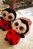 TY big eyes small plush toys soft ladybug doll 15cm 2pcs/set  stuffed animals doll for kids free shipping Beanie Boos
