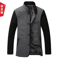 2014 spring male wool overcoat men's clothing medium-long wool overcoat jacket outerwear