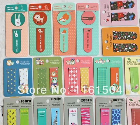 free shipping Cute animal creative magnetic bookmark(China (Mainland))