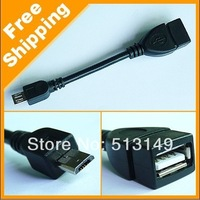 Wholesale - 1000PCS High Quality USB Host Mode Micro OTG Cable for sumsung table pc i9100 i9220 Galaxy S2 DHL FEDEX free
