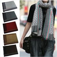 Scarfs women 2014 autumn and winter men fashion style brand g classic jacquard weave faux cashmere long scarves pashmina shawls