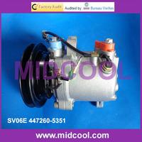 Auto air conditioner Compressor for 155 Kubota excavator SV06E 447260-5351
