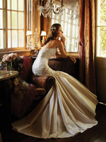 2014 New Europe Fashion Strapless Bride Sexy Backless Lace Mermaid Wedding Dress Slim Fit Train Wedding Dresses with Tail  A715