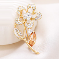 All-match brooch sweet  flower brooch zircon corsage pin