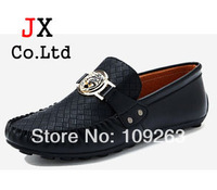 2014 Genuine leather Mens brand loafers British slip on Comfortable sneakers cowskin flats Driving Mocassin Shoes for Men  JX