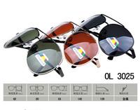 2014 Men Polarizer sun Glasses Fashion UV400 Black Metal Frame Goggles Reduce Glare Men Sun coating sunglasses OL3052