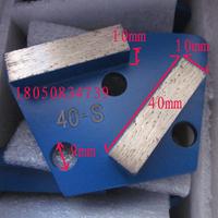 40# Soft Concrete Grinding Block 25# Hard Concrete Diamond Block 3 Pins magnetic Floor Polishing Machine