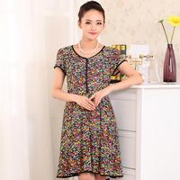 2014 summer fashion slim medium-long print women's one-piece dress